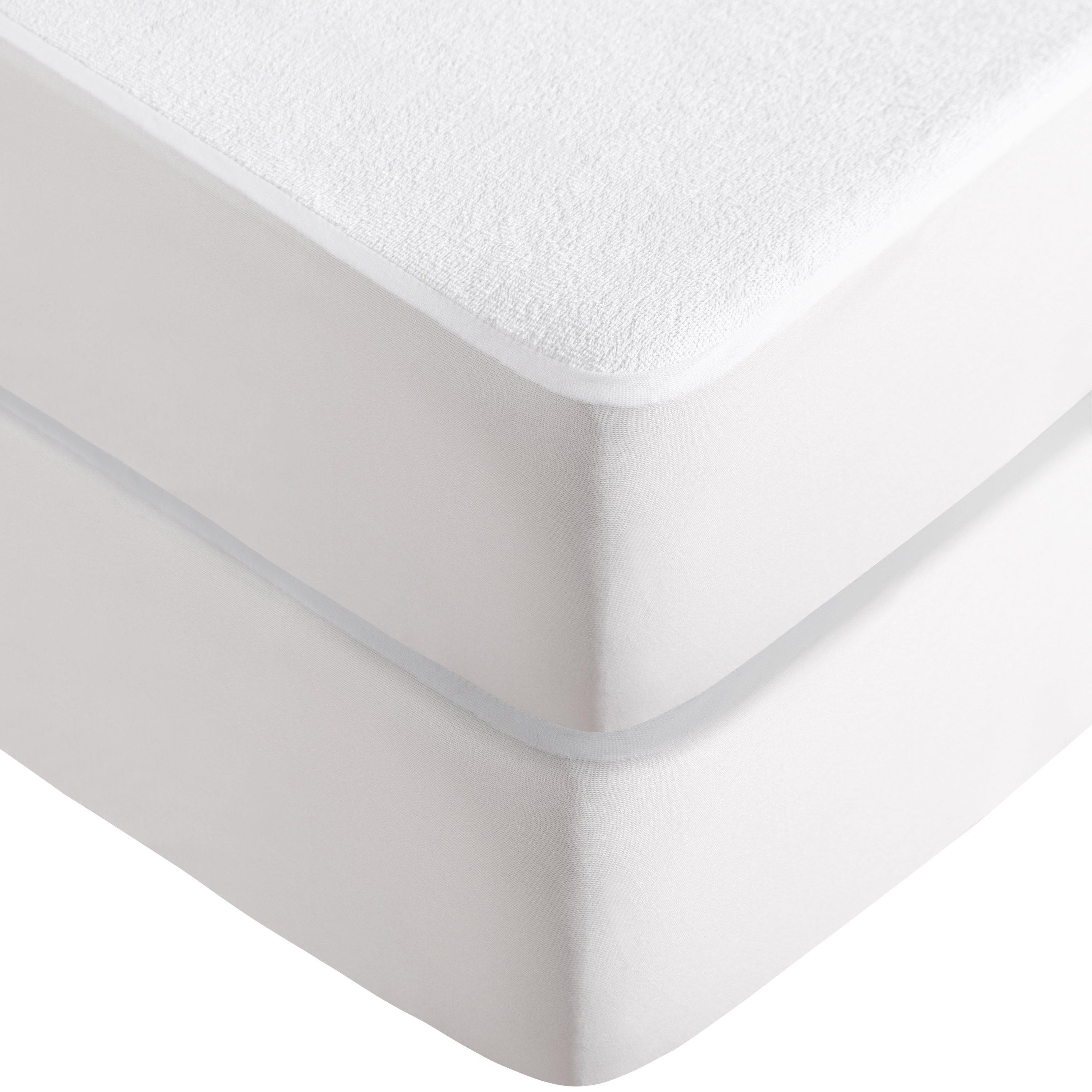 Luxury Fitted WATERPROOF Mattress Protector Non-Allergic Breathable Made In UK