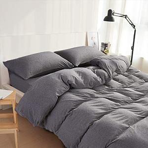NTBAY 100% Organic Cotton Solid Color Duvet Cover with Hidden Zipper - NTBAY