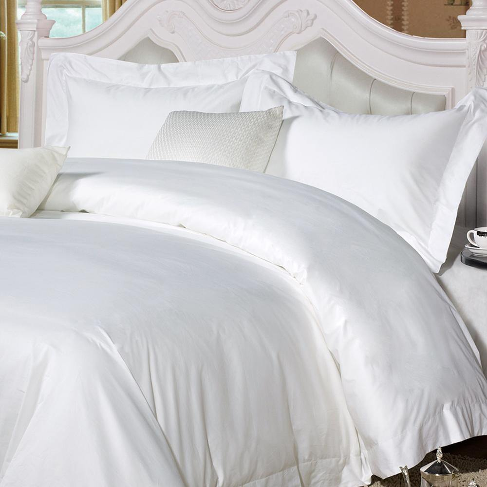 NTBAY 5 Pieces Hotel Luxury Bedding Set 100% Egyptian Cotton Sateen 400 Thread Count, White