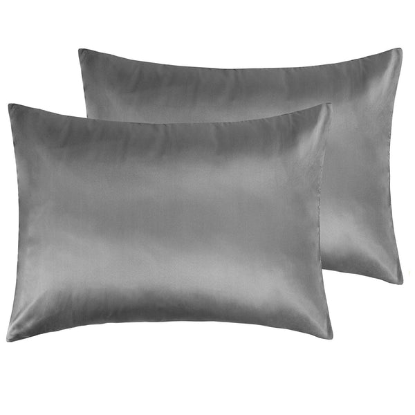 NTBAY Zippered Satin Pillow Cases for Hair and Skin, Luxury Hidden Zipper Pillowcases Set of 2