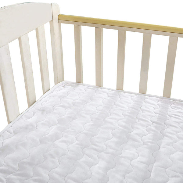 NTBAY Toddler Mattress Pad, Muslin Cotton Solid Color, Soft and Breathable - NTBAY
