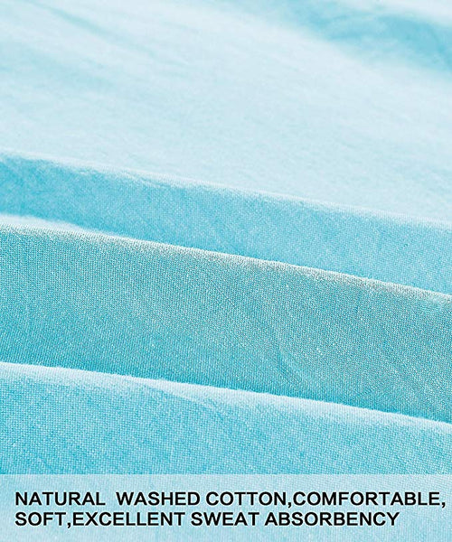 NTBAY 3 Piece Washed Cotton Duvet Cover Set - NTBAY