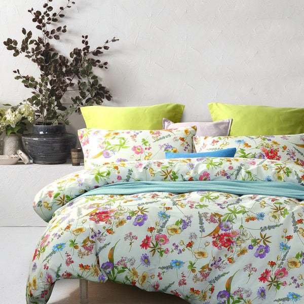 NTBAY 3 Pieces Duvet Cover Set 100% Cotton Sateen Printed Reversible Design - NTBAY