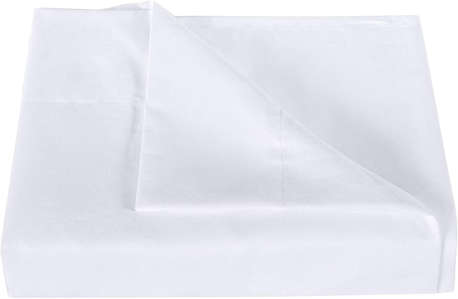 White Flat top sheet