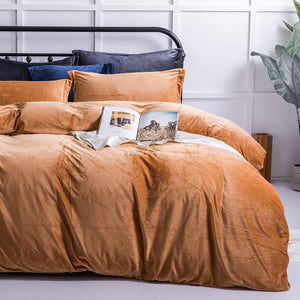 NTBAY Flannel Duvet Cover Set