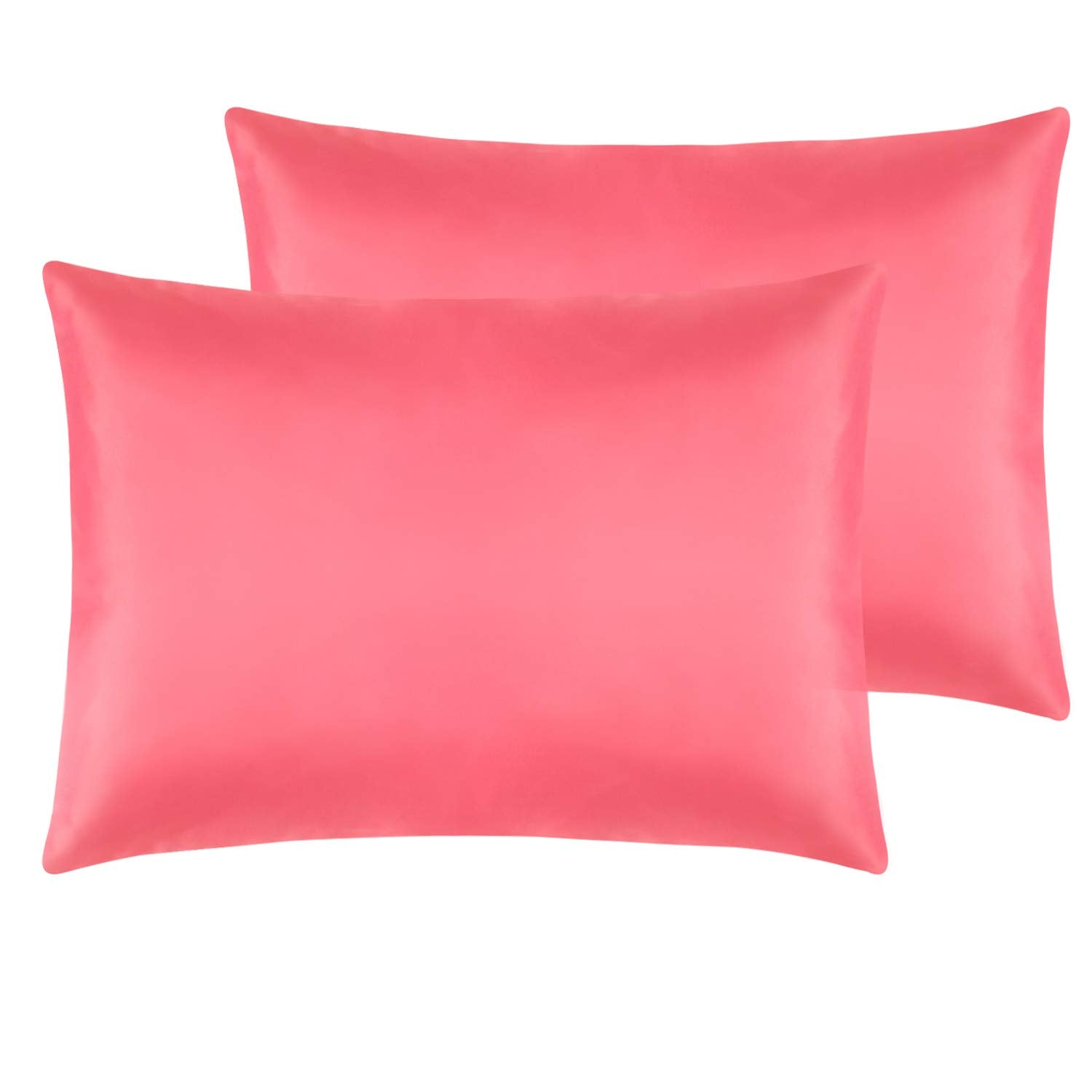 Satin Pillowcases Summer White Standard Queen Set of 2 FREE Shipping