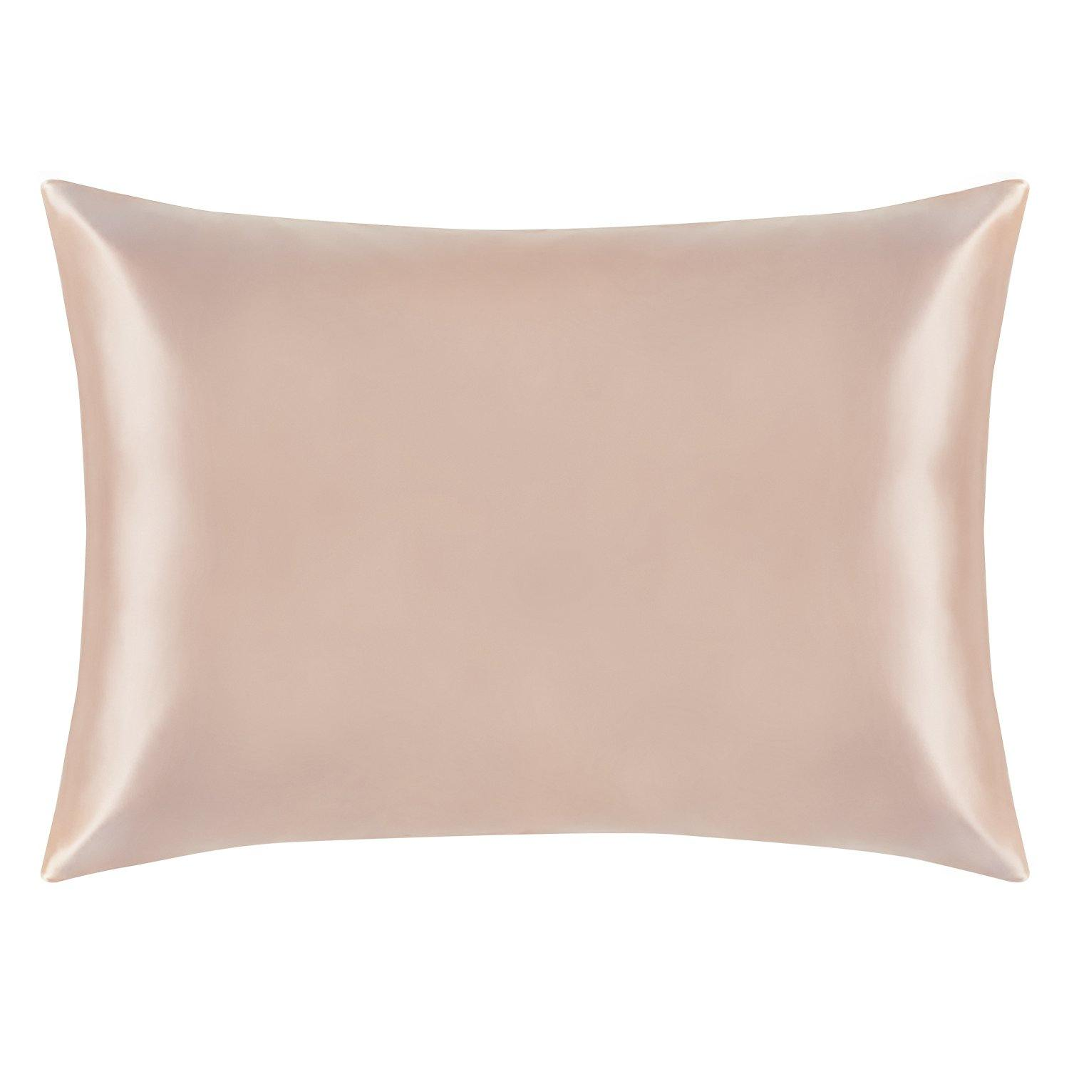 NTBAY soft mulberry silk pillowcase, pink, Queen/King
