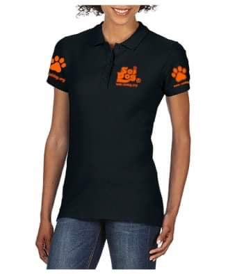 LadyFit Black Polo Shirt