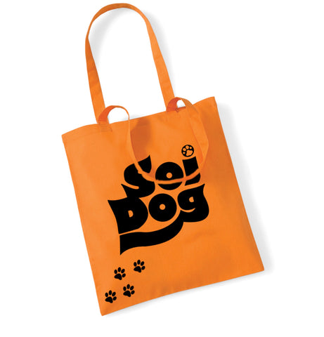 Orange Paw Tote Bag