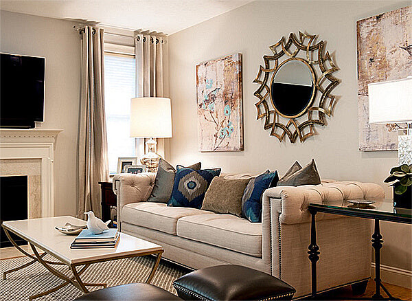Click To Get The Look: Demarco Round Wall Mirror