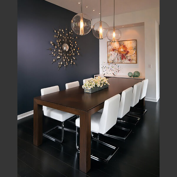 Credits Adam Gibson Design Click To Get The Look Raindrops Gold Sunburst Wall Mirror Elegant Dining Rooms