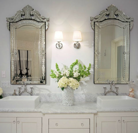 Top 12 Magnificent Rooms Using Venetian Mirrors