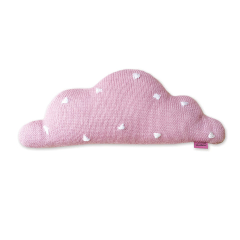 CHARLI - Homely Creatures - Knitted Cloud Cushion - Pink (Medium) - 1