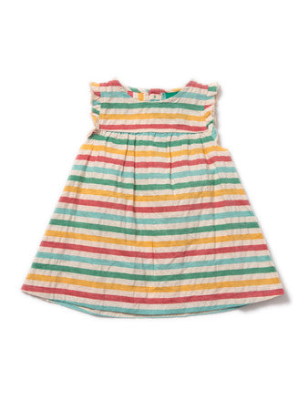 Beach Hut Seersucker Frill Dress