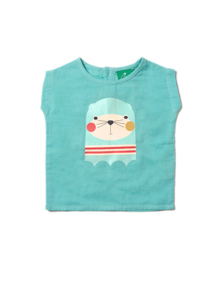 Seaside Seal Double Cloth Top