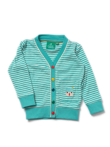 Sky Blue Pointelle Cardigan