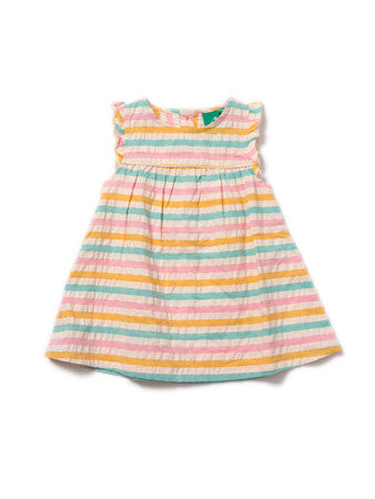 Salt Water Taffy Seersucker Frill Dress
