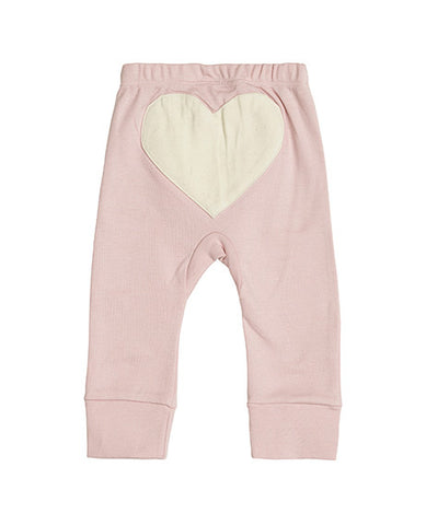 CHARLI - Sapling - Dusty Pink Heart Pants - 1
