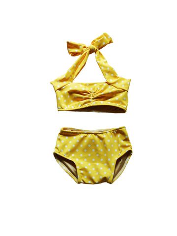 CHARLI - Red Dolly Swimwear - Retro Polka Dot Baby Bikini - 1