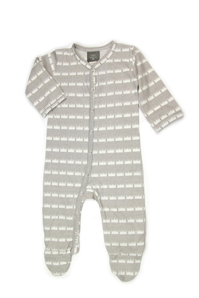 Classic Footie Jumpsuit - Crown