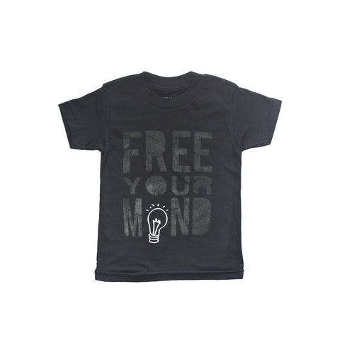 CHARLI - Little Urban Apparel - Free Your Mind Black Tee