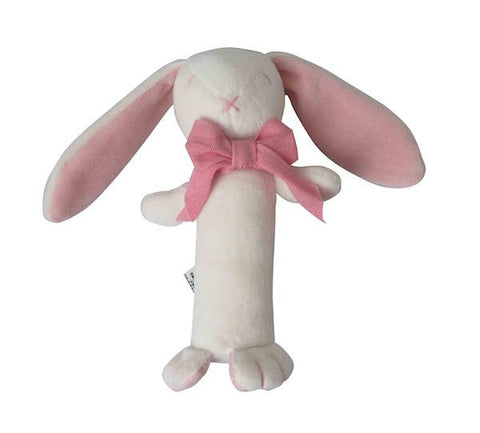 CHARLI - Maud n Lil - Rose the Bunny Stick Rattle - Pink - 1