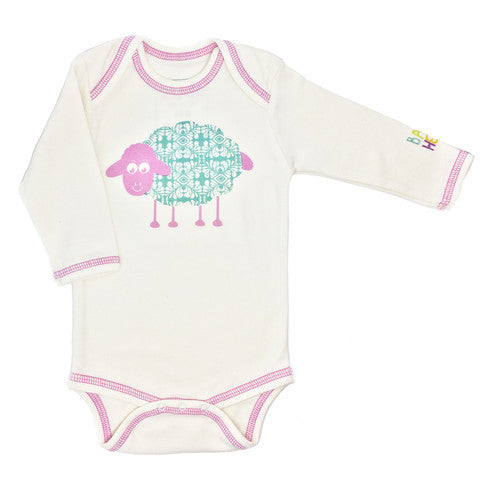 CHARLI - Baby Hero - Year of the Sheep Pink Long Sleeve Onesie - 1