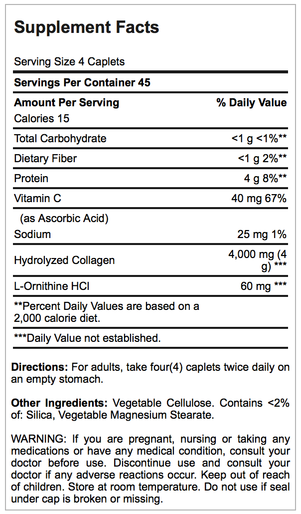 Hydrolysed collagen