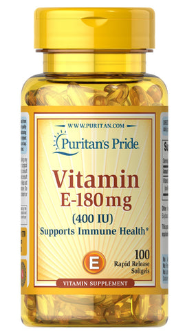 Puritan's Pride Vitamin E-400 IU / 100 Softgels Item / #001770 - Puritan's Pride Singapore