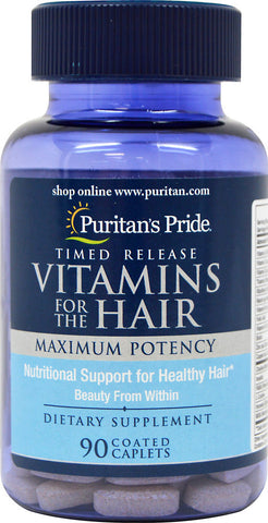 Puritan's Pride Vitamins for the Hair Timed Release 90 Tablets / Item #002711 - Puritan's Pride Singapore