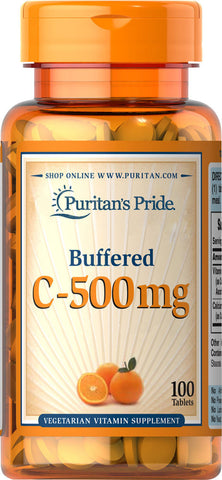 Puritan's Pride Buffered Vitamin C-500 mg Calcium Ascorbate 500 mg / 100 Tablets / Item #002820 - Puritan's Pride Singapore