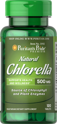 Puritan's Pride Natural Chlorella 500 mg / 120 Tablets / Item #003592 - Puritan's Pride Singapore