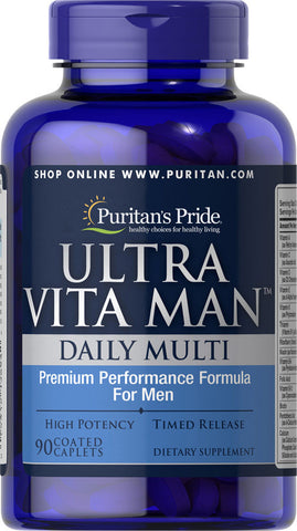 Puritan's Pride Ultra Vita Man™ Time Release 90 Caplets / Item #003894 - Puritan's Pride Singapore