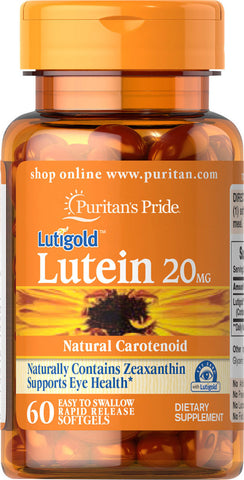 Puritan's Pride Lutein 20 mg with Zeaxanthin 20 mg / 60 Softgels / Item #004901 - Puritan's Pride Singapore