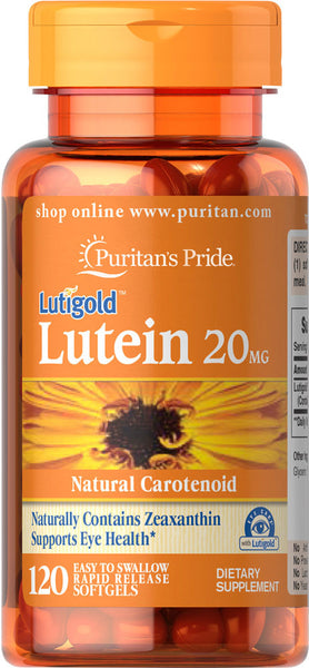 Puritan's Pride Lutein 20 mg with Zeaxanthin 20 mg / 120 Softgels / Item #004904 - Puritan's Pride Singapore