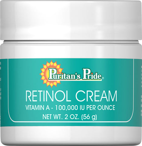 Puritan's Pride Retinol Cream (Vitamin A 100,000 IU Per Ounce) 100000 IU / 2 oz Cream / Item #005510 - Puritan's Pride Singapore