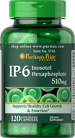 Puritan's Pride IP-6 Inositol Hexaphosphate 510 mg  / 120 Capsules / Item #005745 - Puritan's Pride Singapore