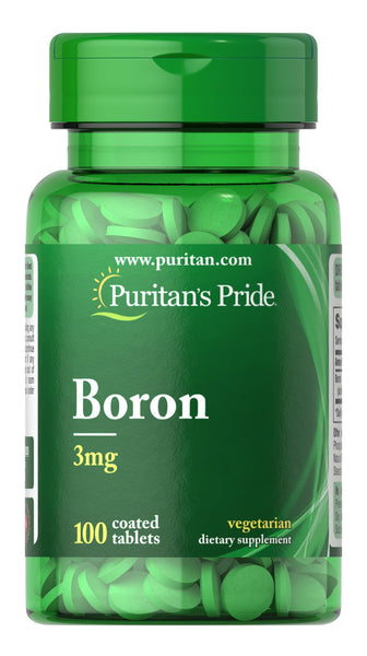 Puritan's Pride Boron 3 mg / 100 Tablets / Item #005820