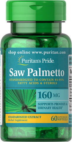 Puritan's Pride Saw Palmetto Standardized Extract 160 mg / 60 Softgels / Item #006895 - Puritan's Pride Singapore