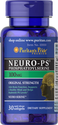 Puritan's Pride Neuro-Ps (Phosphatidylserine) 100 mg / 30 Softgels / Item #010000