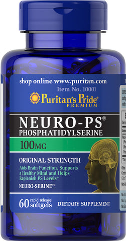Puritan's Pride Neuro-Ps (Phosphatidylserine) 100 mg / 60 Softgels / Item #010001