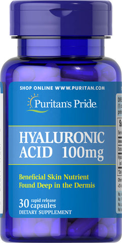 Puritan's Pride Hyaluronic Acid 100 mg / 30 Capsules / Item #017687 - Puritan's Pride Singapore