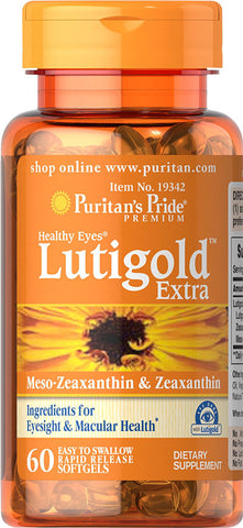 Puritan's Pride Healthy Eyes® Lutein Extra with Zeaxanthin 60 Softgels / Item #019342 - Puritan's Pride Singapore