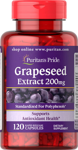 Puritan's Pride Grapeseed Extract 200 mg / 120 Capsules / Item #019465 - Puritan's Pride Singapore