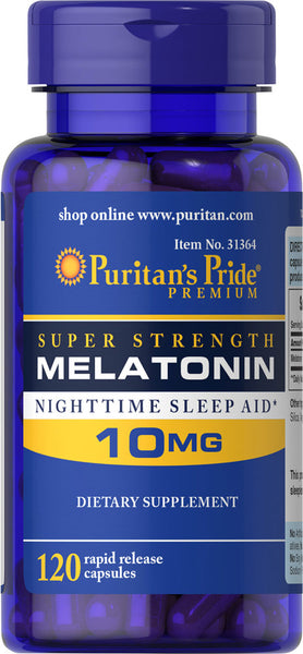 Puritan's Pride Melatonin 10 mg / 120 Capsules / Item #031364