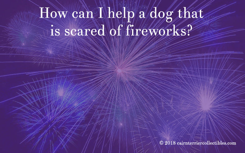 How can I help a dog that is scared of fireworks?