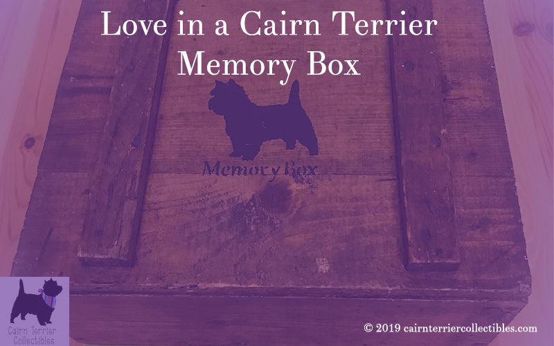 Love in a Cairn Terrier Memory box