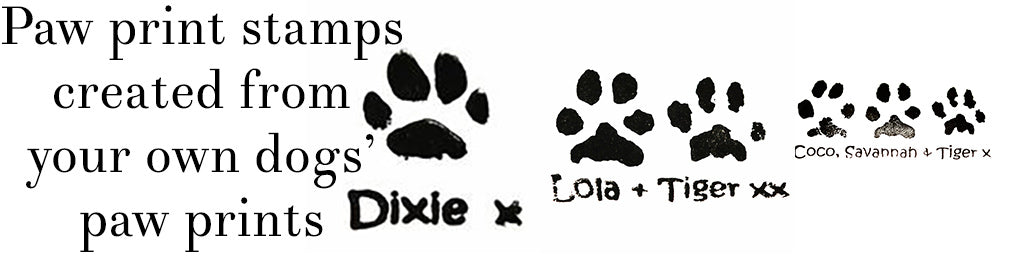 Personalised paw print stamps - Cairn Terrier Collectibles