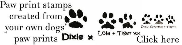 Paw Print stamps from Cairn Terrier Collectibles