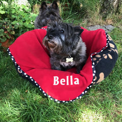 Hattie behind Bella Cairn Terrier Collectibles